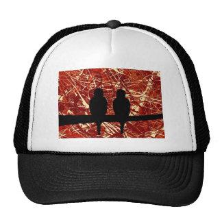 LOVEBIRDS - REMAINS OF THE DAY bird design Mesh Hat