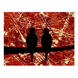 LOVEBIRDS - REMAINS OF THE DAY bird design Postcards