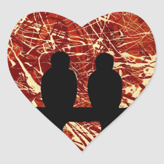 LOVEBIRDS - REMAINS OF THE DAY bird design Sticker