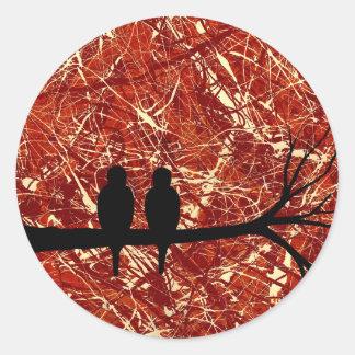LOVEBIRDS REMAINS OF THE DAY bird design Sticker