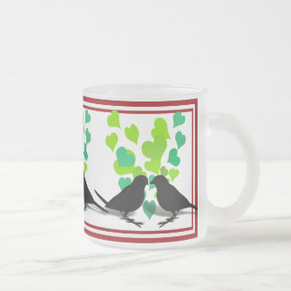 Lovebirds Silhouette with Hearts Mug