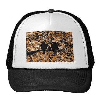 LOVEBIRDS: THREE'S COMPANY (bird design) ~ Cap