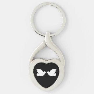 Lovebirds / Twisted Heart Metal Keychain
