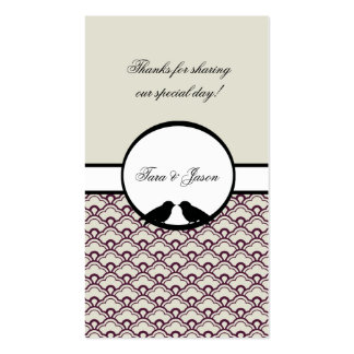 Lovebirds Wedding Favor Gift Tags Pack Of Standard Business Cards