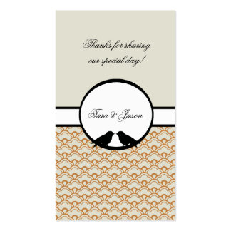 Lovebirds Wedding Favor Gift Tags Double-Sided Standard Business Cards (Pack Of 100)