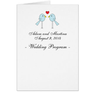 """Lovebirds"" Wedding Programs Greeting Card"