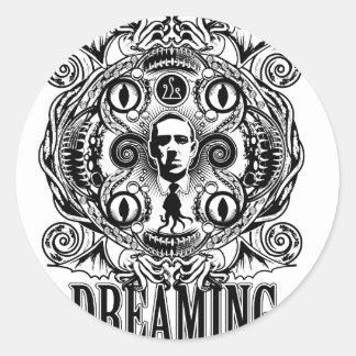Lovecraftian Dreams Classic Round Sticker