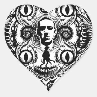 Lovecraftian Dreams Heart Sticker