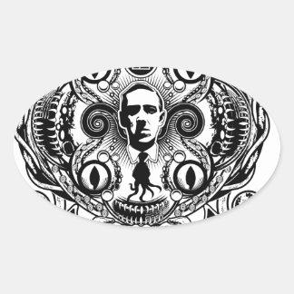 Lovecraftian Dreams Oval Sticker