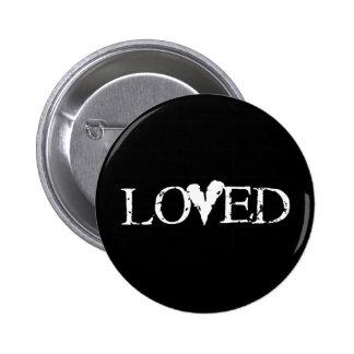 Loved 6 Cm Round Badge