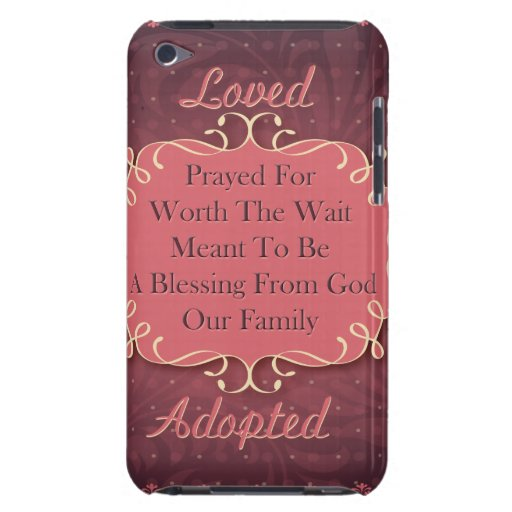 Loved Adopted iPod Case-Mate Case