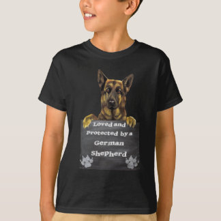 Loved and Protected by a German Shepherd T-Shirt