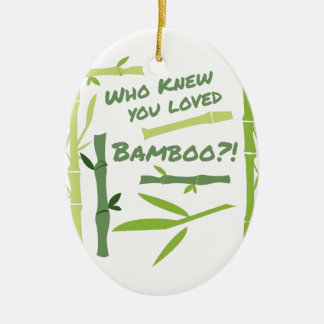 Loved Bamboo Ceramic Oval Decoration