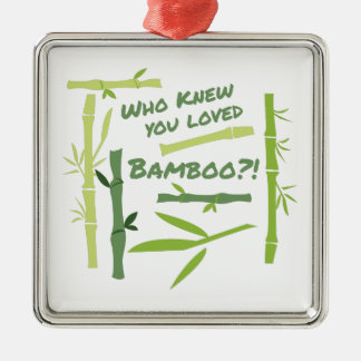 Loved Bamboo Silver-Colored Square Decoration