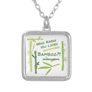 Loved Bamboo Silver Plated Necklace