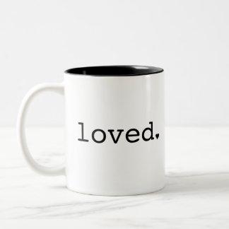 Loved Black Mug