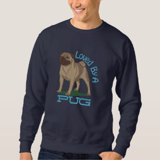 Loved By A Pug Embroidered Sweatshirt