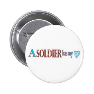 loved by a Soldier 6 Cm Round Badge