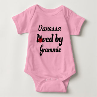 Loved By Grammie Personalized Baby Gift Baby Bodysuit