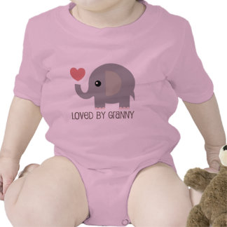 Loved By Granny Heart Elephant T Shirts