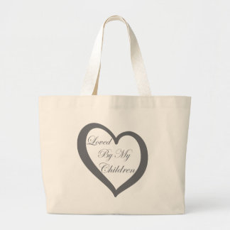 Loved By My Children Large Tote Bag