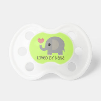 Loved By Nana Heart Elephant Baby Pacifier