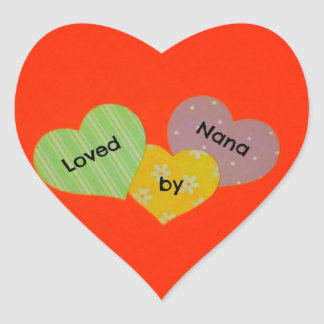 Loved by Nana Heart Sticker