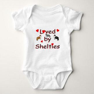 Loved by shelties baby bodysuit