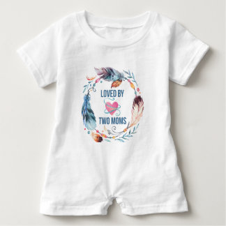 Loved By Two Moms Bohemian Baby Romper Baby Bodysuit