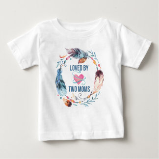 Loved By Two Moms Bohemian Baby TShirt