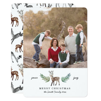Loved Dearly 1 Photo Holiday 13 Cm X 18 Cm Invitation Card