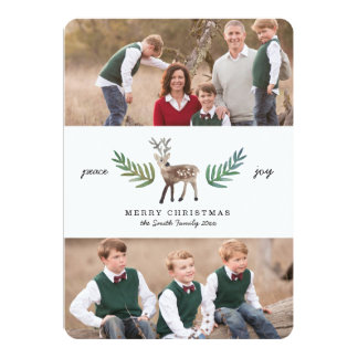 Loved Dearly 2 Photo Holiday 13 Cm X 18 Cm Invitation Card