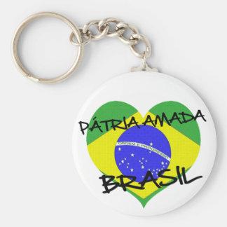 Loved native land Brazil Key Ring