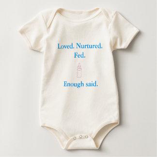 Loved Nurtured Fed Enough Said - baby romper Baby Bodysuit