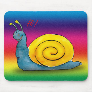 Loved snail mouse pad
