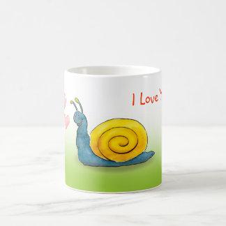 Loved snail with big heart coffee mug