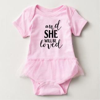 Loved tutu onsie baby bodysuit