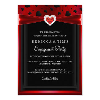 Loved up Engagement Party Invitation
