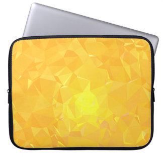 LoveGeo Abstract Geometric Design - Amber Apricot Laptop Sleeve