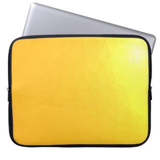 LoveGeo Abstract Geometric Design - Amber Fire Laptop Sleeve