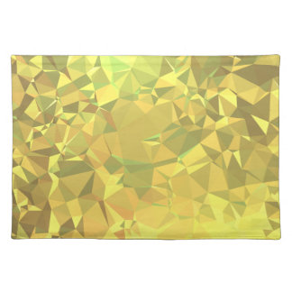 LoveGeo Abstract Geometric Design - Bronze Shields Placemat
