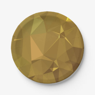 LoveGeo Abstract Geometric Design - Burnish Amber Paper Plate