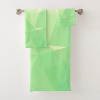 LoveGeo Abstract Geometric Design - Celadon Mark Bath Towel Set