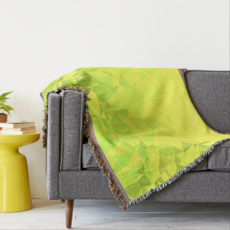 LoveGeo Abstract Geometric Design - Clover Fields Throw Blanket