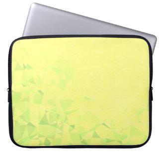 LoveGeo Abstract Geometric Design - Dandelion Lime Laptop Sleeve
