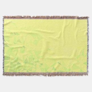 LoveGeo Abstract Geometric Design - Dandelion Lime Throw Blanket