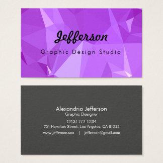 LoveGeo Abstract Geometric Design - Grape Score Business Card