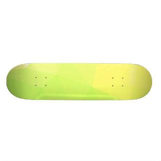 LoveGeo Abstract Geometric Design - Lemon Lime Skateboard