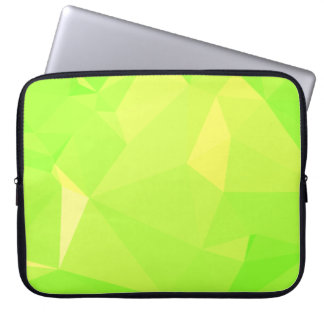 LoveGeo Abstract Geometric Design - Lime Titan Laptop Sleeve
