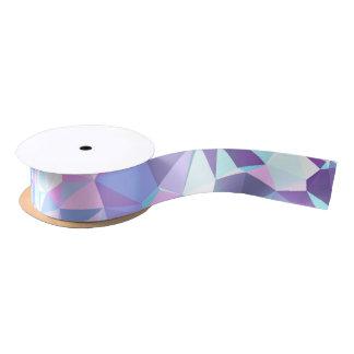 LoveGeo Abstract Geometric Design - Orchid Skies Satin Ribbon
